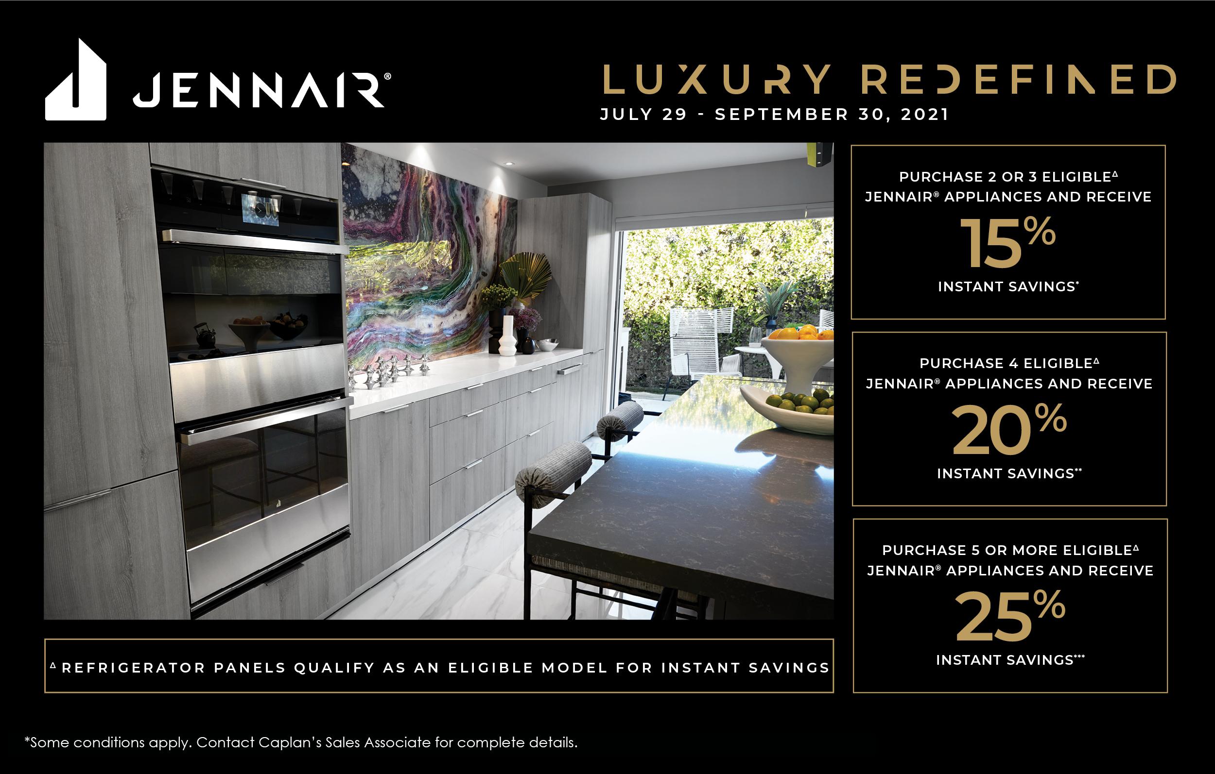 JennAir Promotion July-Sept