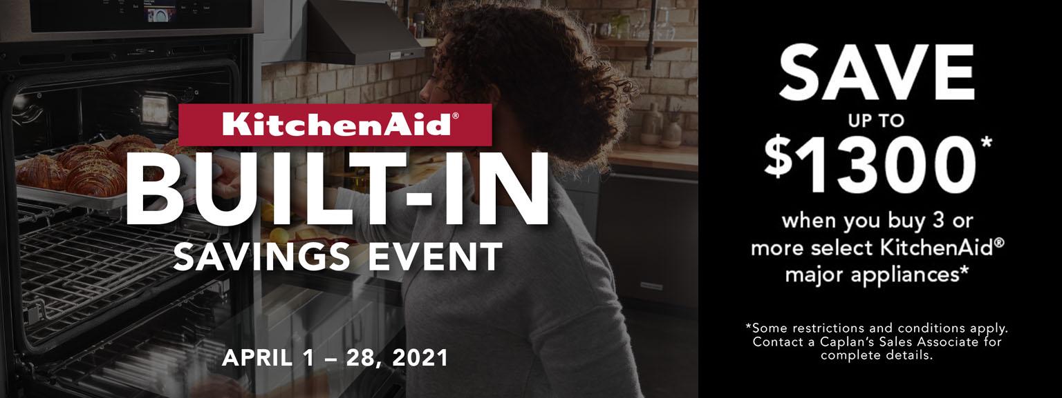 Kitchenaid built in savings event