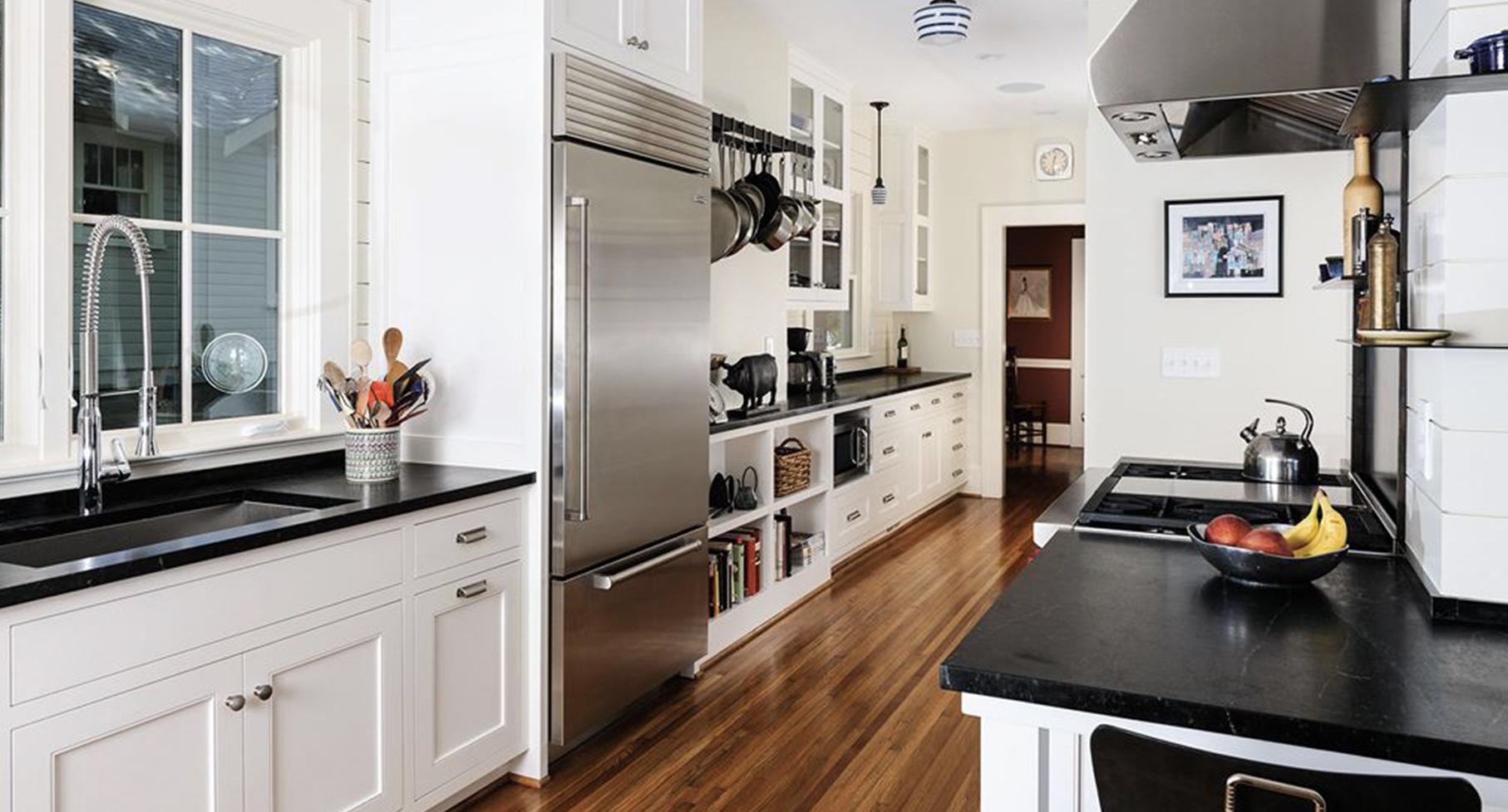 Sub-Zero fridge in full kitchen image