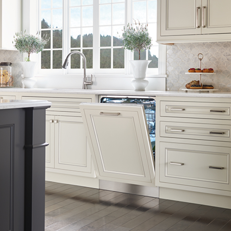 Cove Built-in dishwasher halfway open