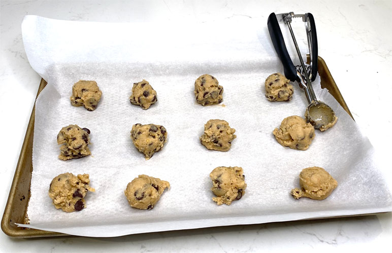 cookies ready for the oven