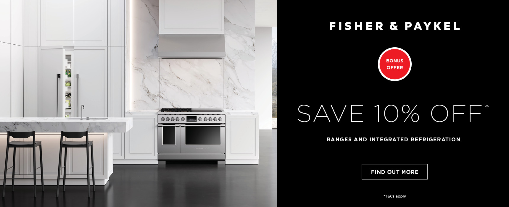 Fisher Paykel Save 10% Off Promo Banner